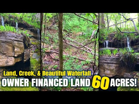 $500 Down Owner Financing 60 Acres With Caves, Spring & Waterfalls In Ozarks! - Www.InstantAcres.com
