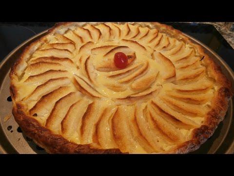 Tarta de manzana con hojaldre, muy ligera y facil de hacer.