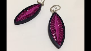 Quilling Earrings drop using a hair comb