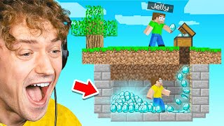 STEALING FROM JELLY In Minecraft SKY BLOCK!