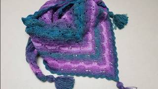 Learn how to crochet the butterfly stitch in triangle and how to make a beautiful shawl