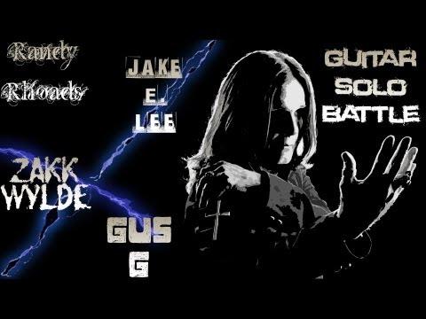 Randy Rhoads VS Jake E. Lee VS Zakk Wylde VS Gus G guitar solo battle  Neogeoatic