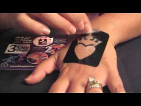 How To Apply Glitter Tattoo By Ybody