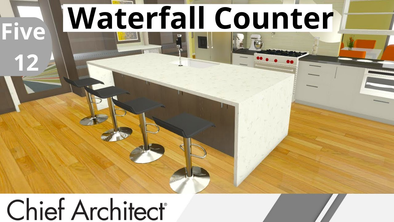 Kitchen Waterfall Island