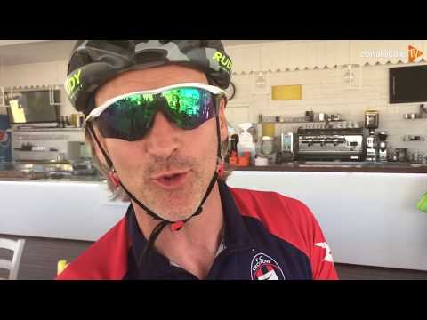 Mister Davide Nicola in bici da Crotone a Torino - Il passaggio sulla Costa dei Trabocchi