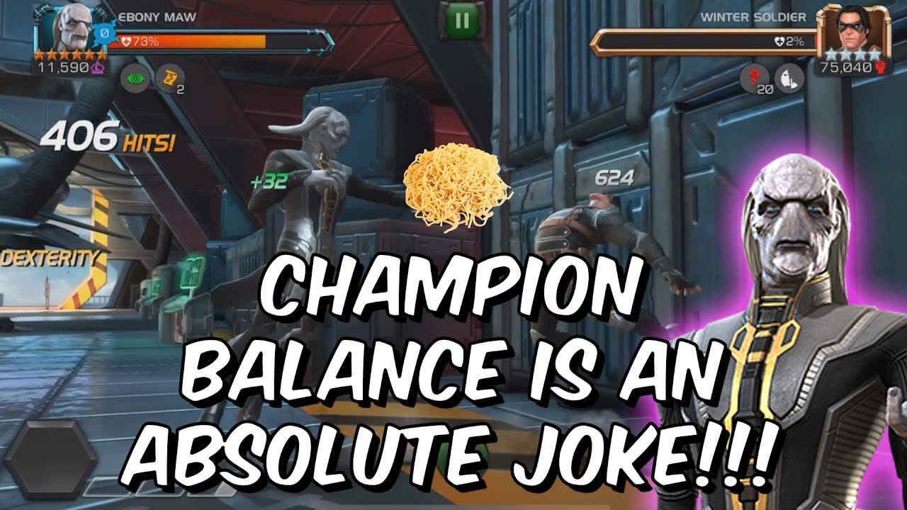 Champion Balance is a JOKE - Namor VS Ebony Maw - Marvel