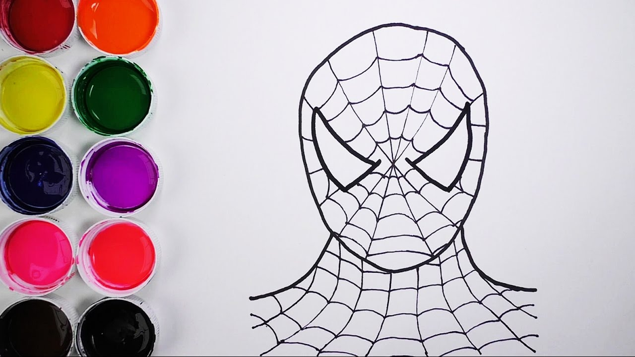 Dibuja Y Colorea Spiderman De Arco Iris Dibujos Para Niños Learn Colors Funkeep