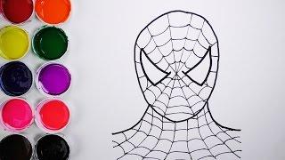 Dibuja y Colorea Spiderman de Arco Iris - Dibujos Para Niños - Learn Colors / FunKeep