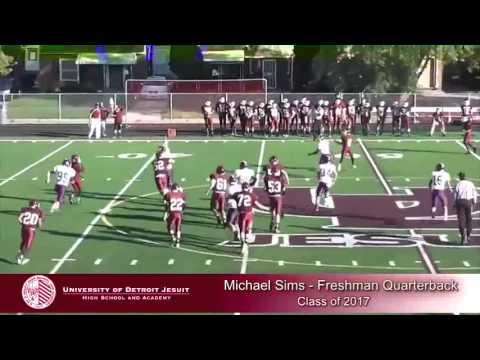 Michael Sims 2013 University of Detroit Jesuit High School Highlights