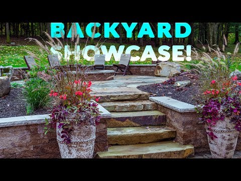 Backyard Patio, Firepit, & Fountain in Roaring Spring PA | PROJECT SHOWCASE Video