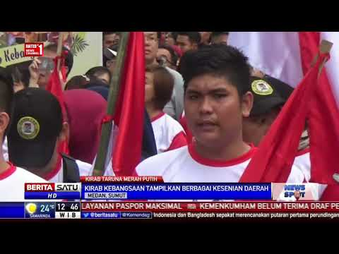Warga Medan Ikuti Kirab Kebangsaan Taruna Merah Putih