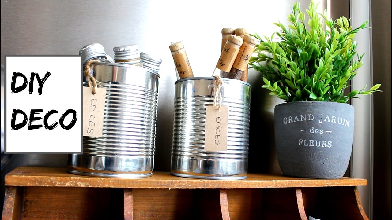 Diy deco i pot a epices ou ustensiles de cuisine i jenalal for Deco cuisine diy