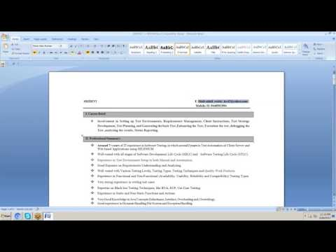 RESUME PREPARATION & END TO END TESTING PROCESS IN TESTING