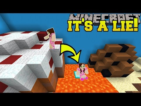 Minecraft: THIS CAKE IS A LIE!!! - Trolling Buttons - Custom Map [1]