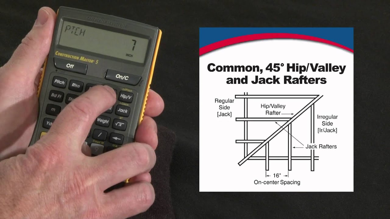 How To Do Rafter Calculations Commons Hips Valleys Jacks Construction Master 5 Youtube