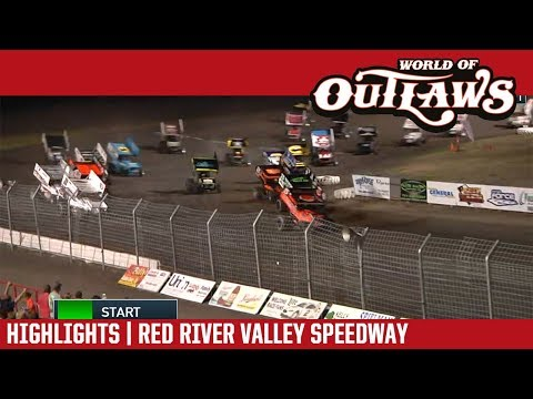 World of Outlaws Craftsman Sprint Cars Red River Valley Speedway August 18, 2018 | HIGHLIGHTS