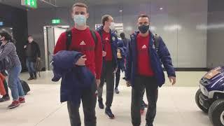 Прилет сборной России в Тбилиси Квалификация ЕВРО 22