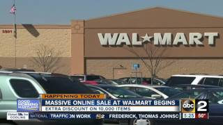Walmart offers big discounts to online shoppers