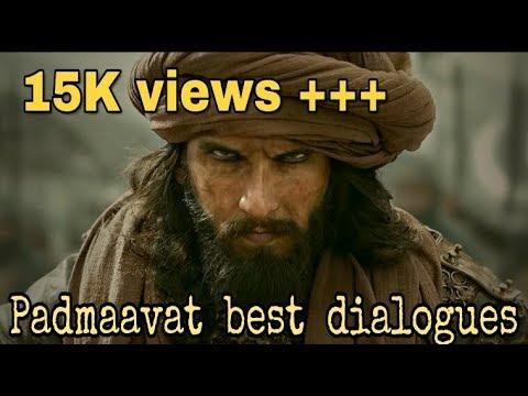 Padmavat | padmavat Best dialogues ranveer Singh | padmavat khali bali song |padmavat leteste viral