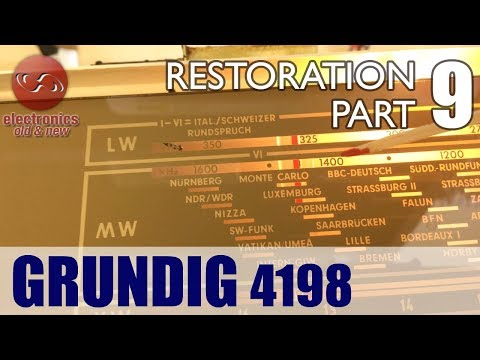 Grundig 4198 tube radio restoration - Part 9. RF alignment of AM bands