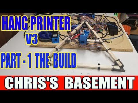 HangPrinter v3 Part 1 - The Build - Chris's Basement
