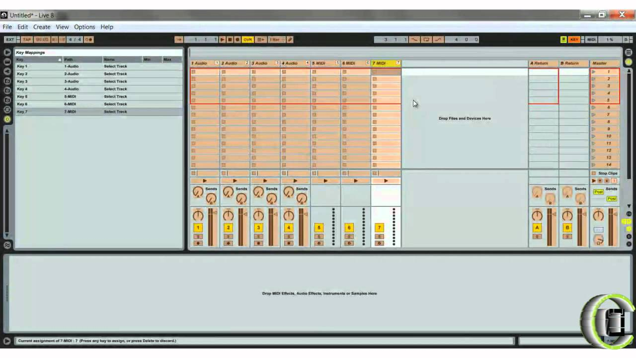 Key and MIDI Mapping in Ableton Live