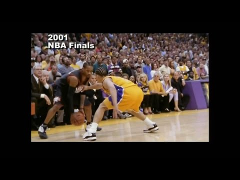 """Greatest Moments in NBA History - Allen Iverson """"Step Over"""" Tyronn Lue NBA Finals 2001"""
