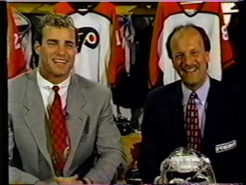Philadelphia Flyers Lindros 3rd season Eye Injury 1st First NHL Stanley Cup Playoff Goal 1994 95