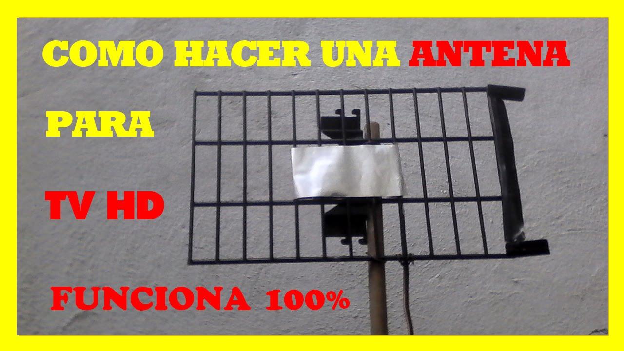 Como hacer antena casera para tv hd en 2 minutos youtube for Como hacer un perchero de pared