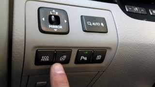 Lexus LS 460 - Driver Control Panel Explanation