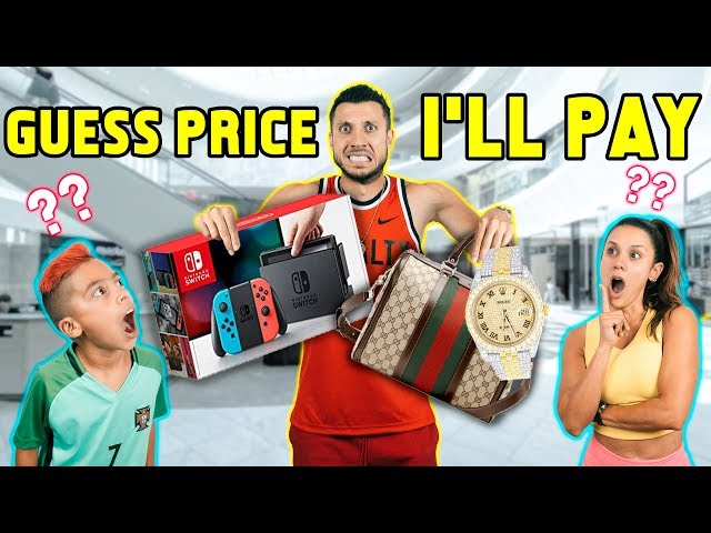 If You GUESS The PRICE, I'll BUY EVERYTHING! *Challenge* | The Royalty Family