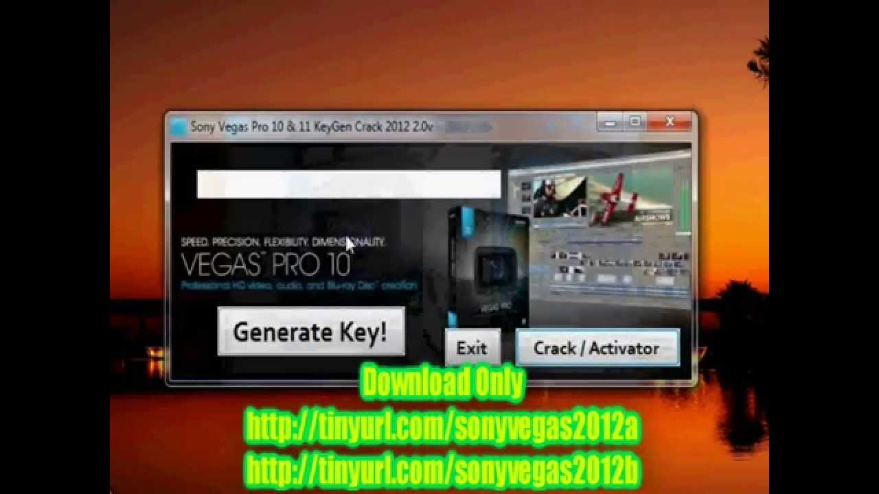 sony vegas pro 10 free crak and keygen