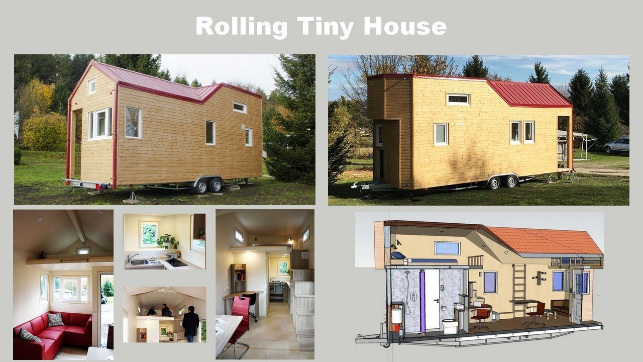 Rolling tiny house mobiles minihaus angebot youtube for Mobiles minihaus