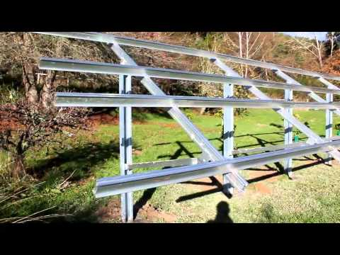 Ground Mounted Pv Solar Panel Frame Esolar Co Nz Youtube