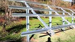 Ground Mounted PV Solar Panel Frame - Esolar.co.nz
