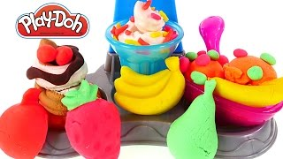Play Doh Sundae Station Ice Cream How To Make Playdough Banana Split New Play-doh Toys