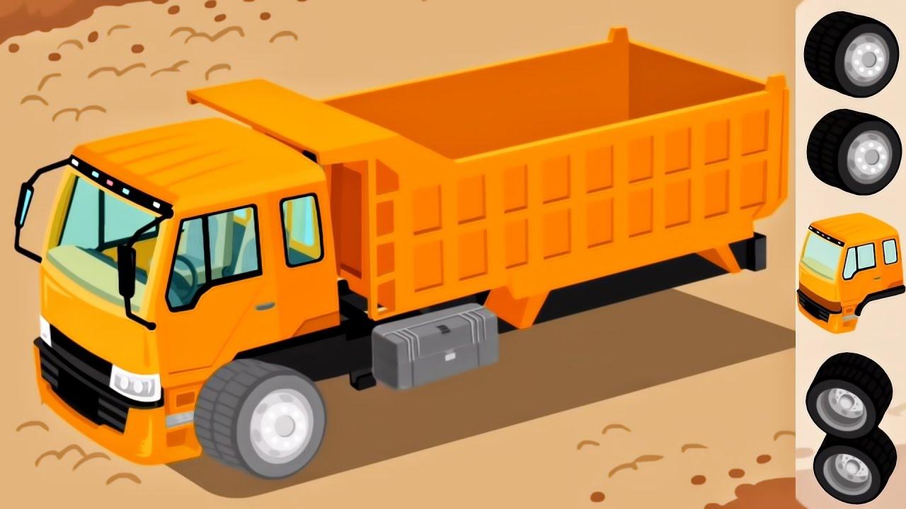 trucks for children kids construction game cartoon for children