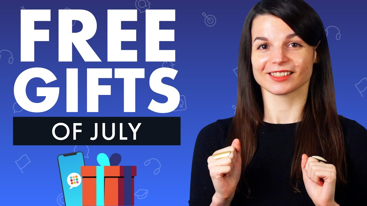 FREE English Gifts of July 2021
