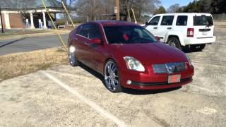 "2006 Nissan Maxima on 24"" Akuza 847 with 255/25/24 Lionhart Tires at Rimtyme Durham Thumbnail"