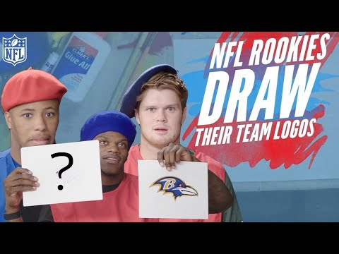 NFL Rookies Attempt to Draw their Team Logos | NFL Rush