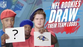 NFL Rookies Attempt to Draw their Team Logos :art: | NFL Rush