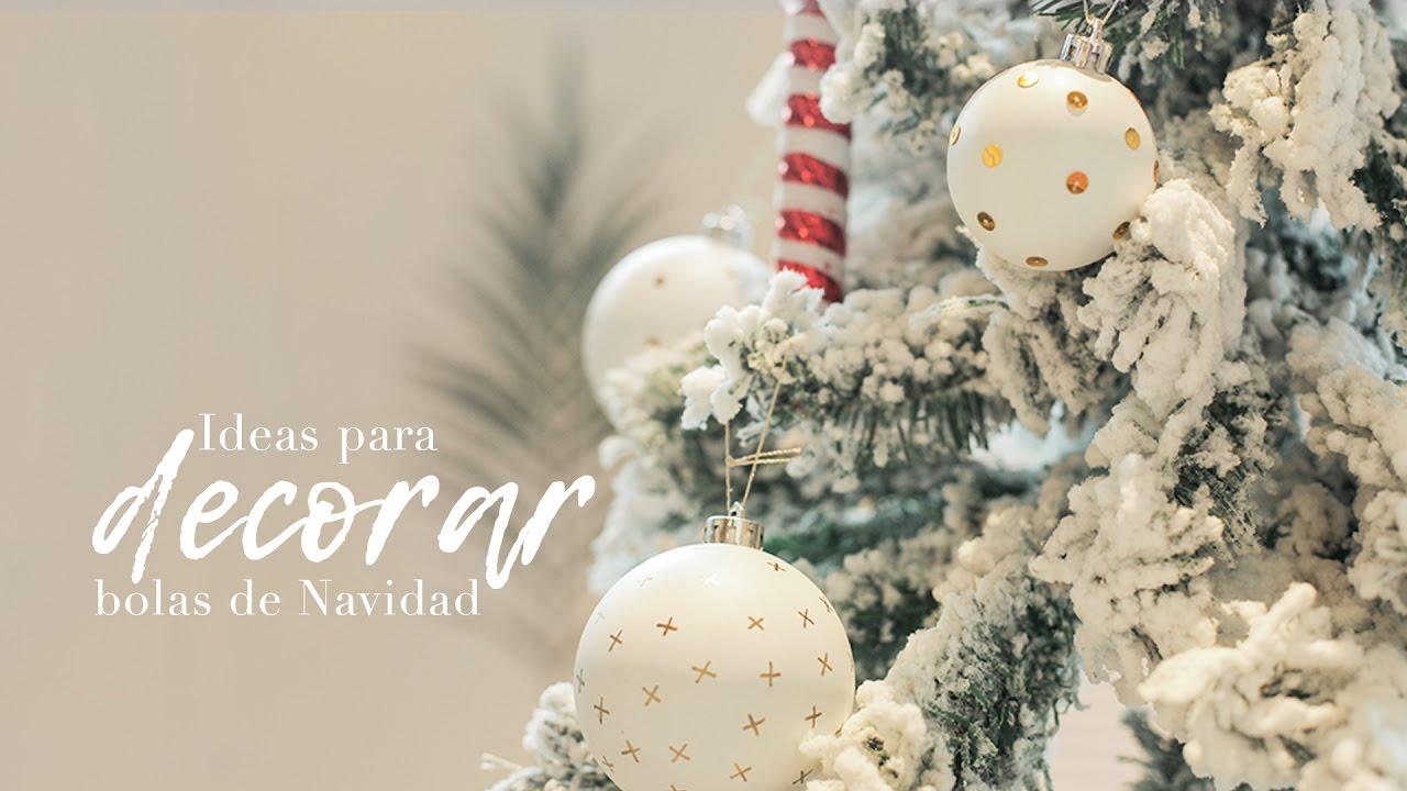 4 ideas para decorar las bolas del rbol de navidad for Figuras de navidad para decorar