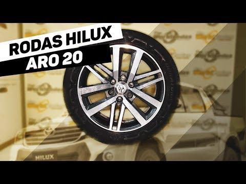 Rodas Hilux Aro 20 Grafite Diamantada + Pneus 265/50 R20