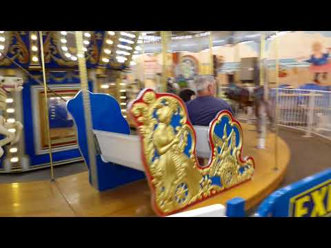 Jessica Carousel Ride Old Orchard Beach 2018 With Dad