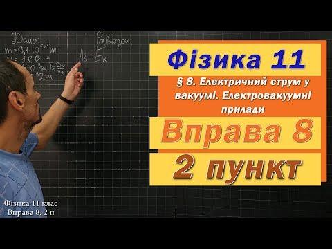 Фізика 11 клас. Вправа № 8. 2 п