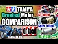 ON ROAD ver. TAMIYA Brushed Motor ComparisonGT Tuned, Sport Tuned, RS-540SH Motor by TT-02B