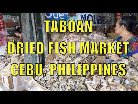 Taboan Dried Fish Market, Cebu, Philippines.