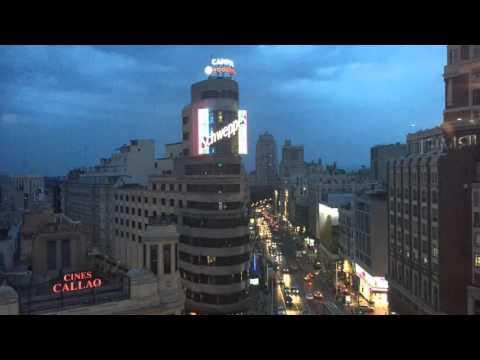 Madrid Gran Via Time Lapse