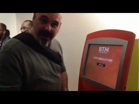 In Toronto's Bitcoin Decentral Location Using Their ATM To Buy Bitcoins