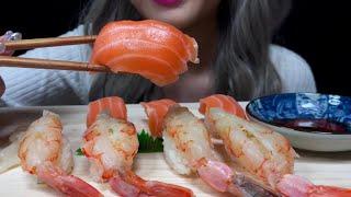 ASMR 연어&새우초밥  먹방 Salmon &a…